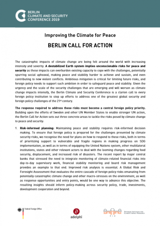 Berlin Call for Action 04 June 2019