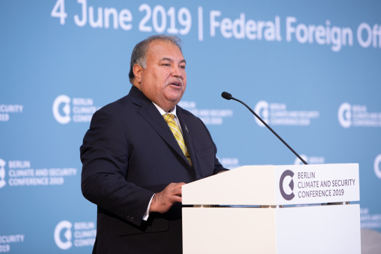 Baron Waqa, speech, Berlin Climate and Security Conference 2019