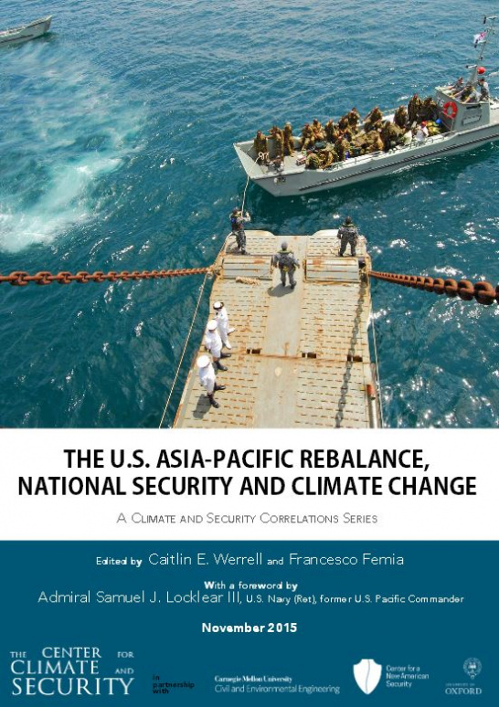 U.S. Asia Pacific Rebalance National Security and Climate Change