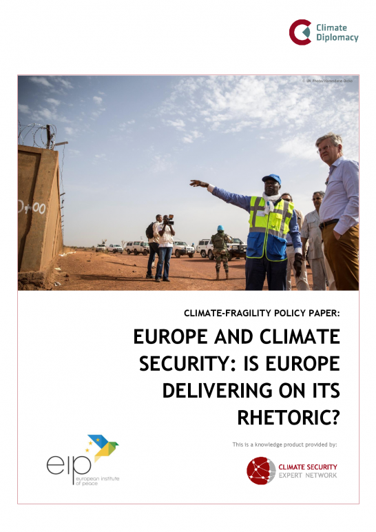 CSEN Policy Paper: Europe and Climate Security - Is Europe Delivering on its Rhetoric?
