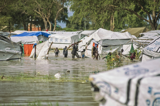 Flood, Protection of Civilians (POC) site, Bentiu, South Sudan