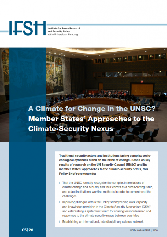 IFSH policy brief_Climate and the UNSC