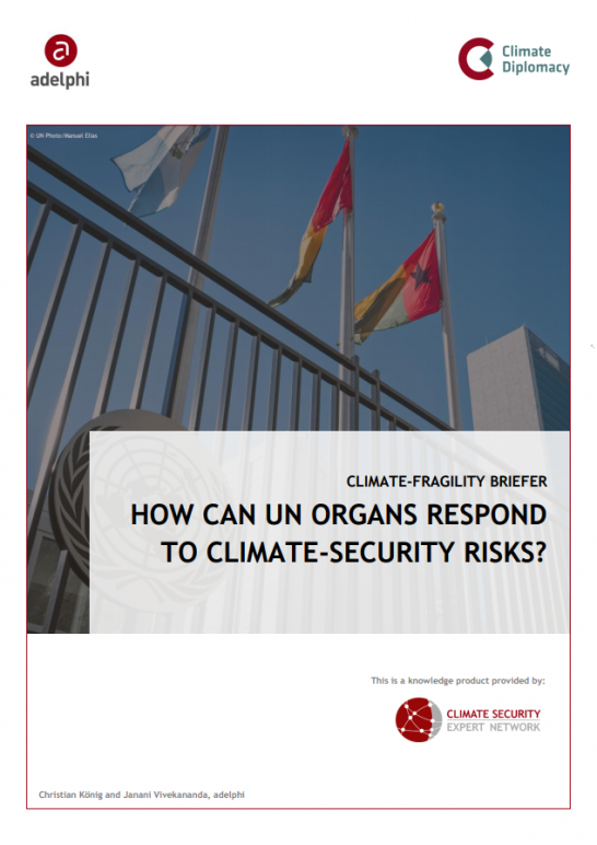 CSEN Briefer_Three pager_How Can UN Organs Respond to Climate-Security Risks?