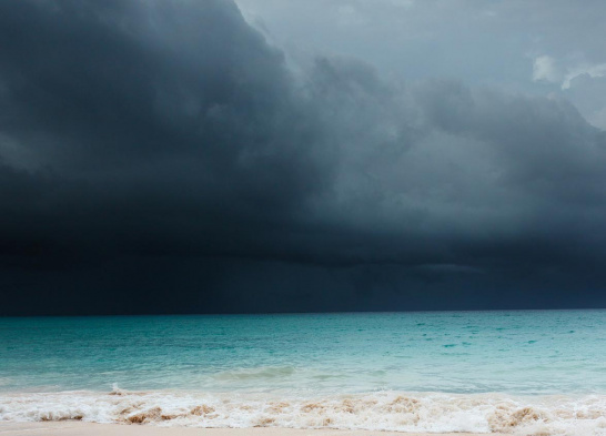 dark skies, beach, Caribbean