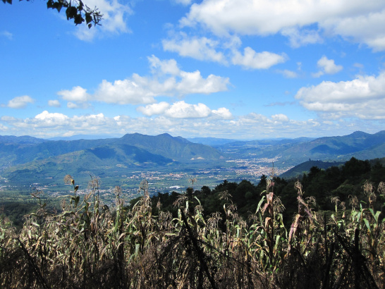 guatemala, corn, mountains, sky