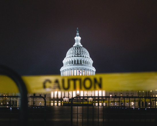 United States of America, Washington, DC, Capitol Building, caution, warning, crisis, climate diplomacy