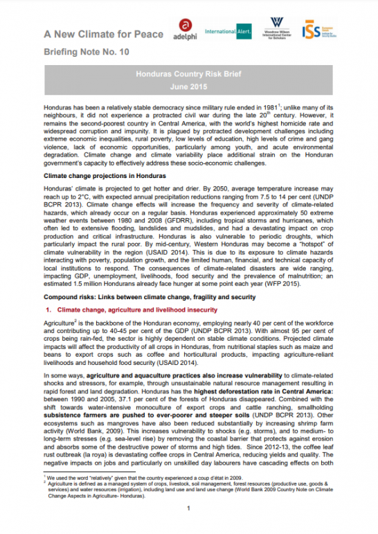 G7 Fragility Risk Brief_Honduras