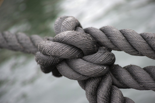 rope, tie, knot, together, link, cooperation